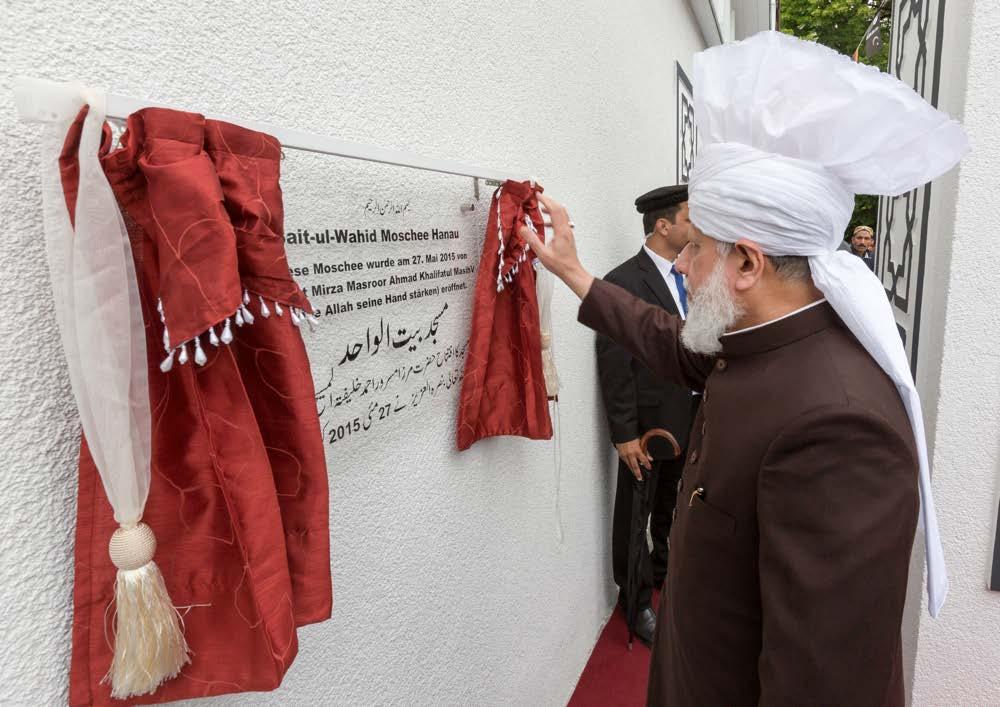 New Ahmadiyya Mosque opened in Hanau, Germany by Head of Ahmadiyya Muslim Community