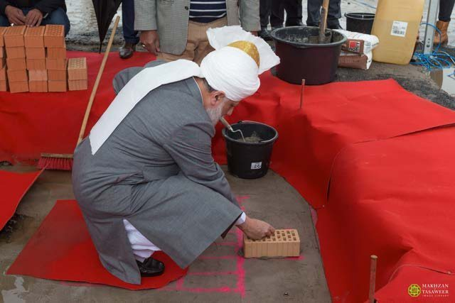 Foundation Stone for new Mosque laid by Head of Ahmadiyya Muslim Community