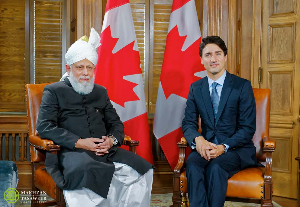 Prime Minister of Canada receives Head of Ahmadiyya Muslim Community in Ottawa