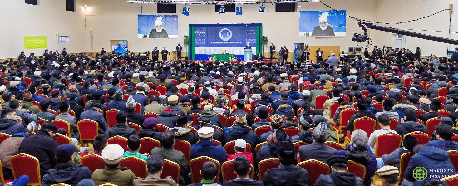 Head of Ahmadiyya Muslim Community addresses Muslim youth event (Waqf-e-Nau Ijtema) in London