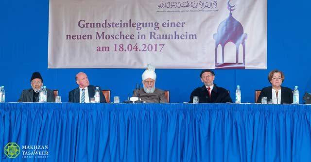 Head of Ahmadiyya Muslim Community lays foundation stone for new Mosque in Raunheim, Germany