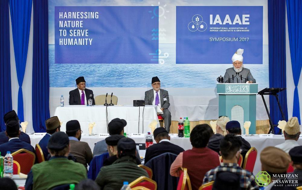 Head of Ahmadiyya Muslim Community addresses concluding session of IAAAE Annual Symposium