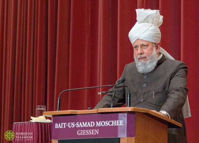 new ahmadiyya mosque opened in giessen by caliph of peace. Black Bedroom Furniture Sets. Home Design Ideas