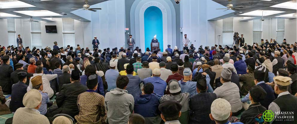 Head of Ahmadiyya Muslim Community delivers Friday Sermon at Baitur Rahman Mosque, Maryland